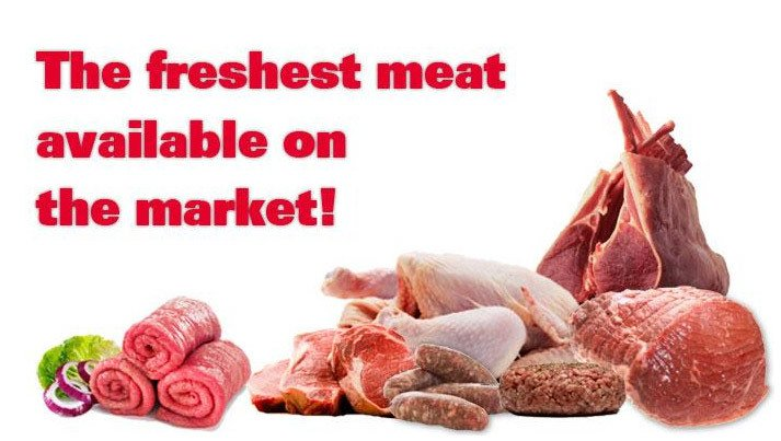 The freshest meat available on the market